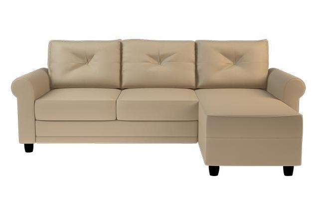 Угловой диван кожа с канапе